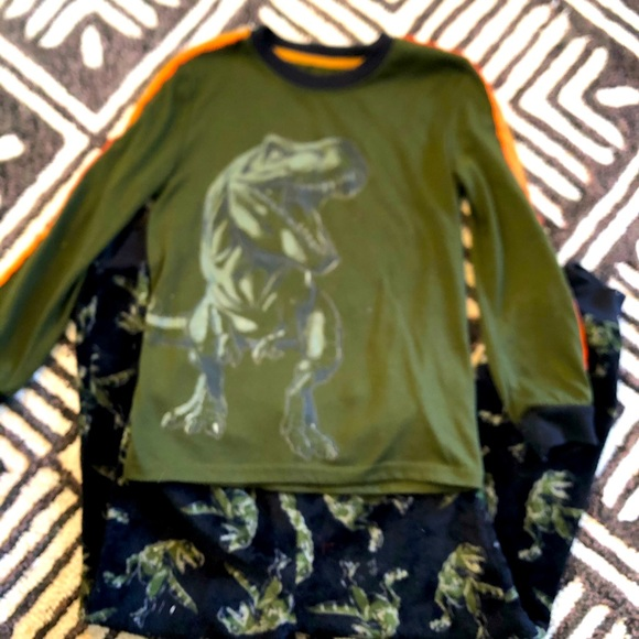 T-Rex pajama set, fleece bottoms